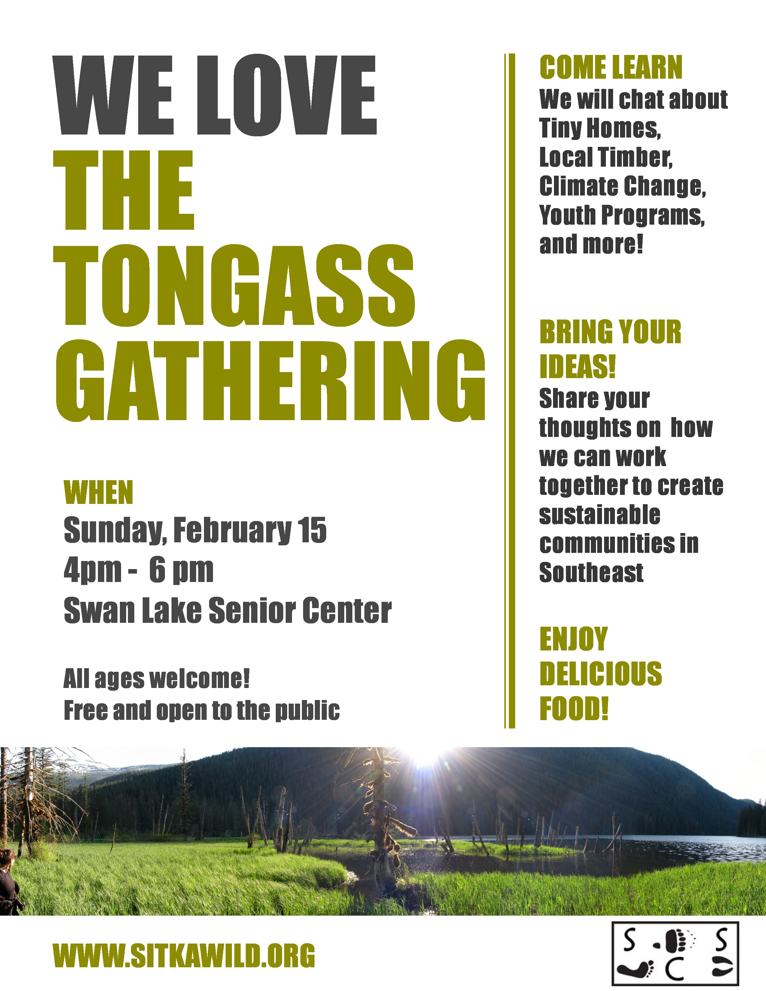 We Love the Tongass Gathering - Sitka Conservation Society