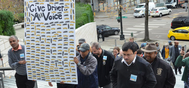 Drivers Rally at City Hall, Call on Council to Pass O'Brien Legislation Image