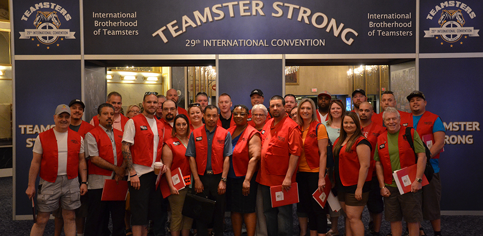 Our Local 117 Delegation to the IBT International Teamsters Convention is Ready to Go! Image