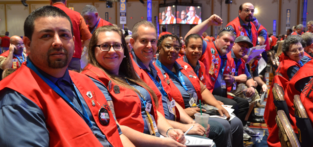 Our Local 117 public services campaign highlighted at the convention Image