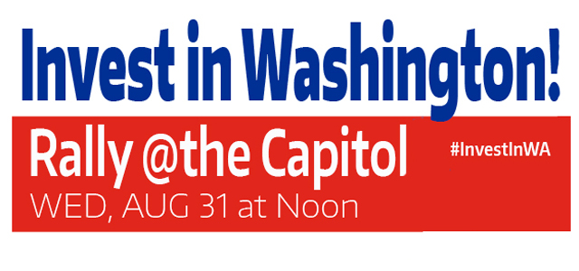 Invest in WA! State Workers to Rally in Olympia on Wed Image