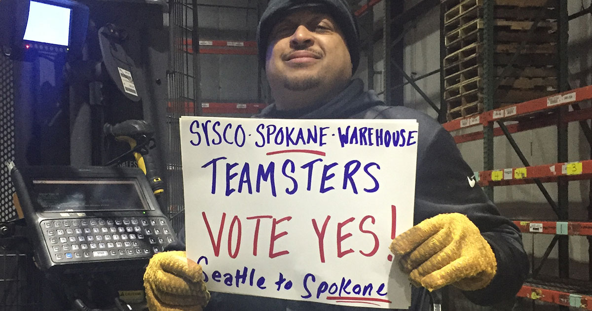 Solidarity with Sysco employees in Spokane who are fighting to win their Union Image