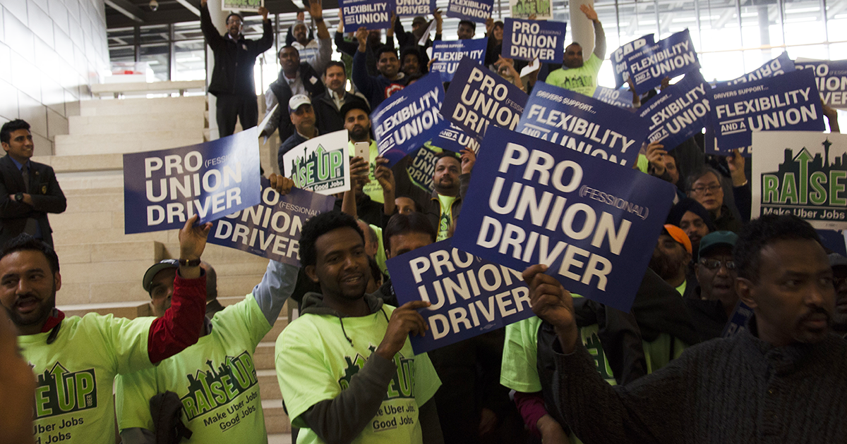 Uber, Lyft drivers demand better conditions and a voice Image