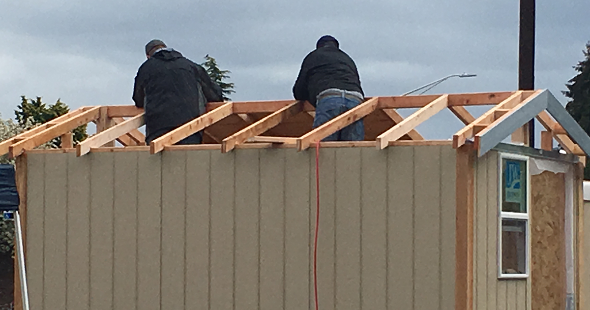Teamsters help fight homelessness through tiny house project Image