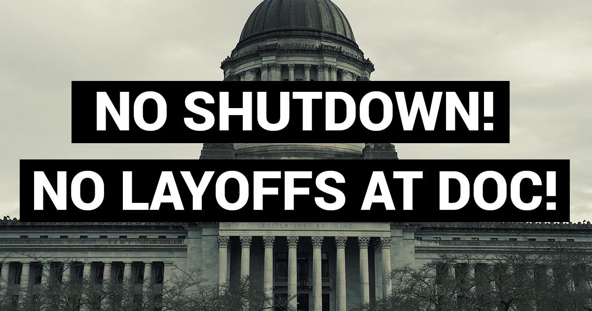 No shutdown! No layoffs at DOC! Image
