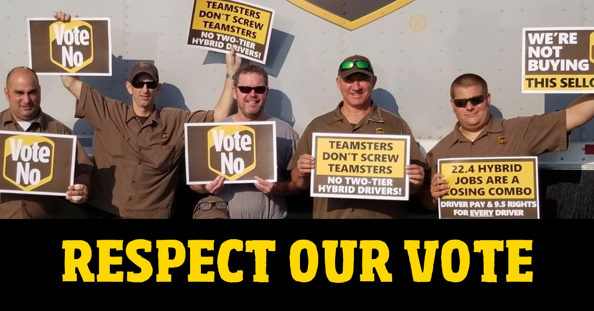Teamster Vps Call For Halt On Ups Contract Approval Teamsters For