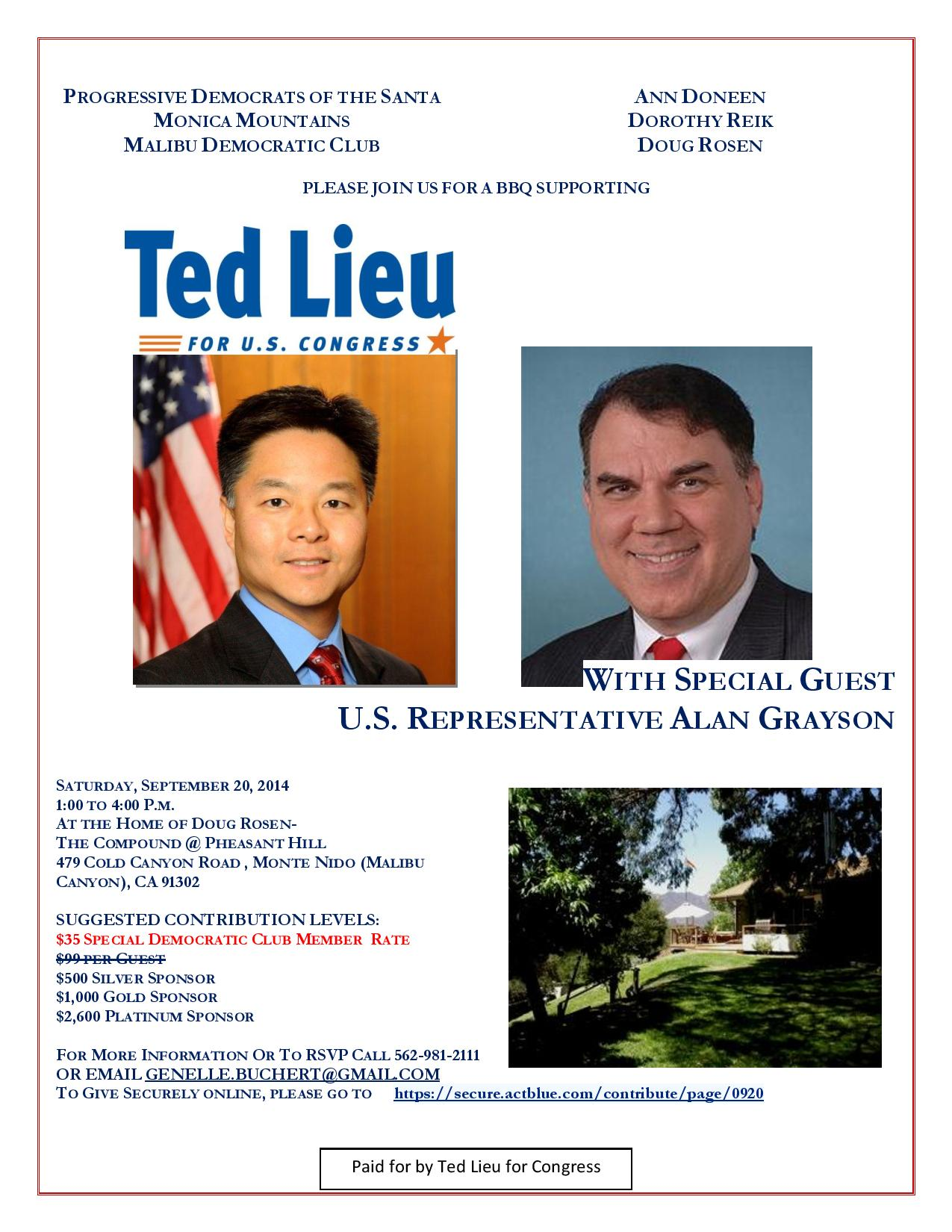 Ted Lieu for Congress Invitation