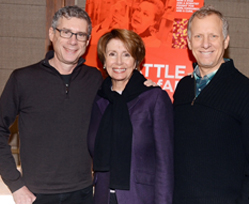 Filmmakers Jeffrey Friedman (left) and Rob Epstein (right) with Congresswoman Nancy Pelosi