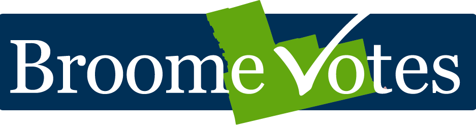Broome County Logo Broomevotes Logo