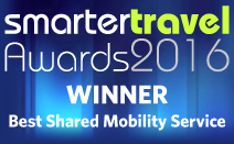 Smarter Travel Awards 2016 Winner for Best Shared Mobility Service