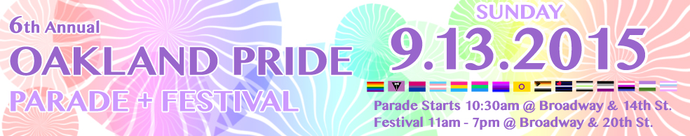Oakland Pride: September 13, 2015