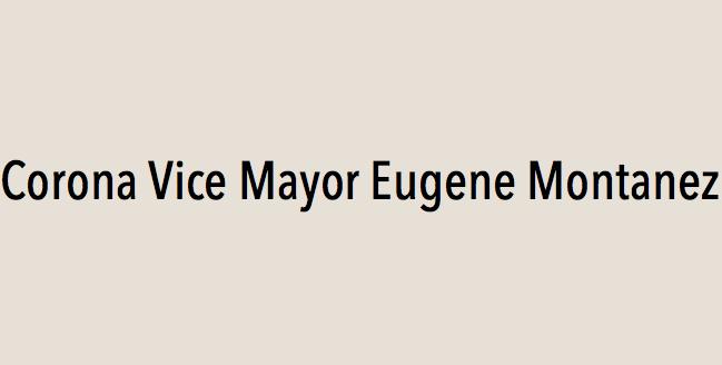 Corona Vice Mayor Eugene Montanez endorses Eric Linder