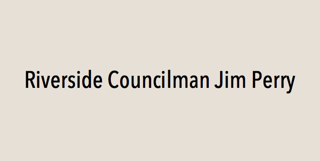 Riverside Councilman Jim Perry endorses Eric Linder