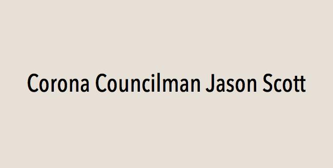 Corona Councilman Jason Scott endorses Eric Linder