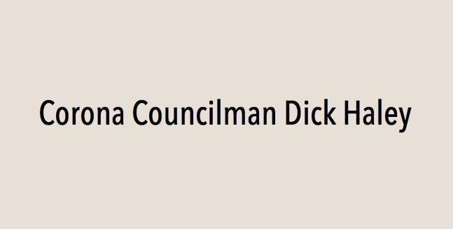 Corona Councilman Dick Haley endorses Eric Linder