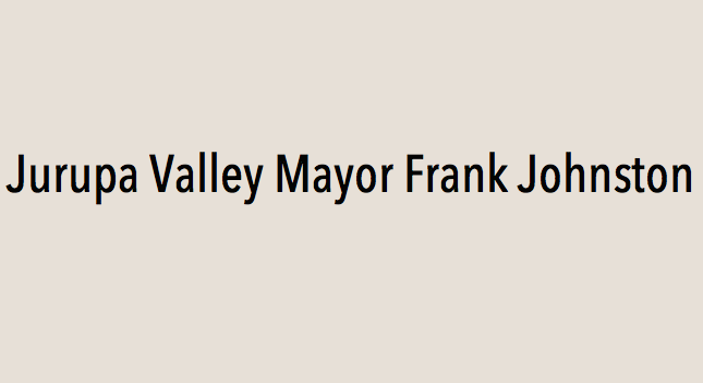 Jurupa Valley Mayor Frank Johnston endorses Eric Linder