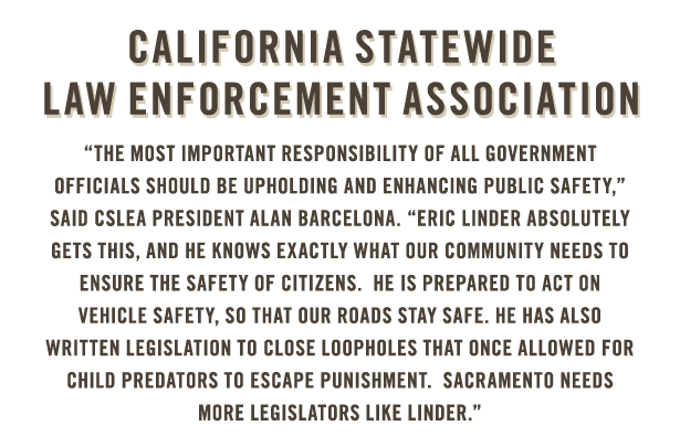 California Statewide Law Enforcement Association endorses Eric Linder