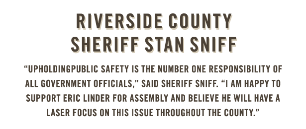 Sheriff Stan Sniff endorses Eric Linder