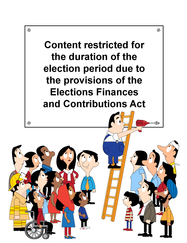 Site down for election due to legal obligations as per Alberta legislation