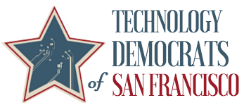 SF Tech Dems logo white background