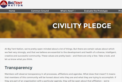 Civility Pledge Page