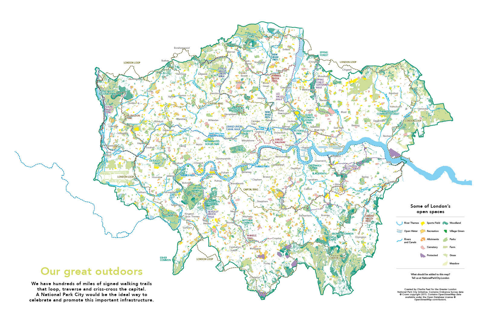 Map of London Greater London National Park City – London City Map