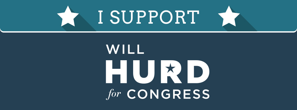 I support Will Hurd for Congress
