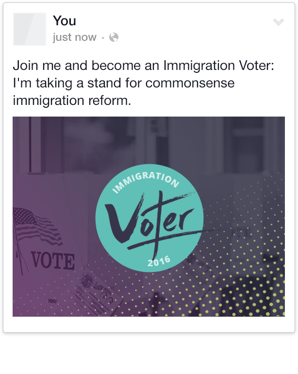 Share Immigration Voter on Facebook
