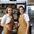 girls working in hospitality