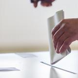 Casting vote in ballot box