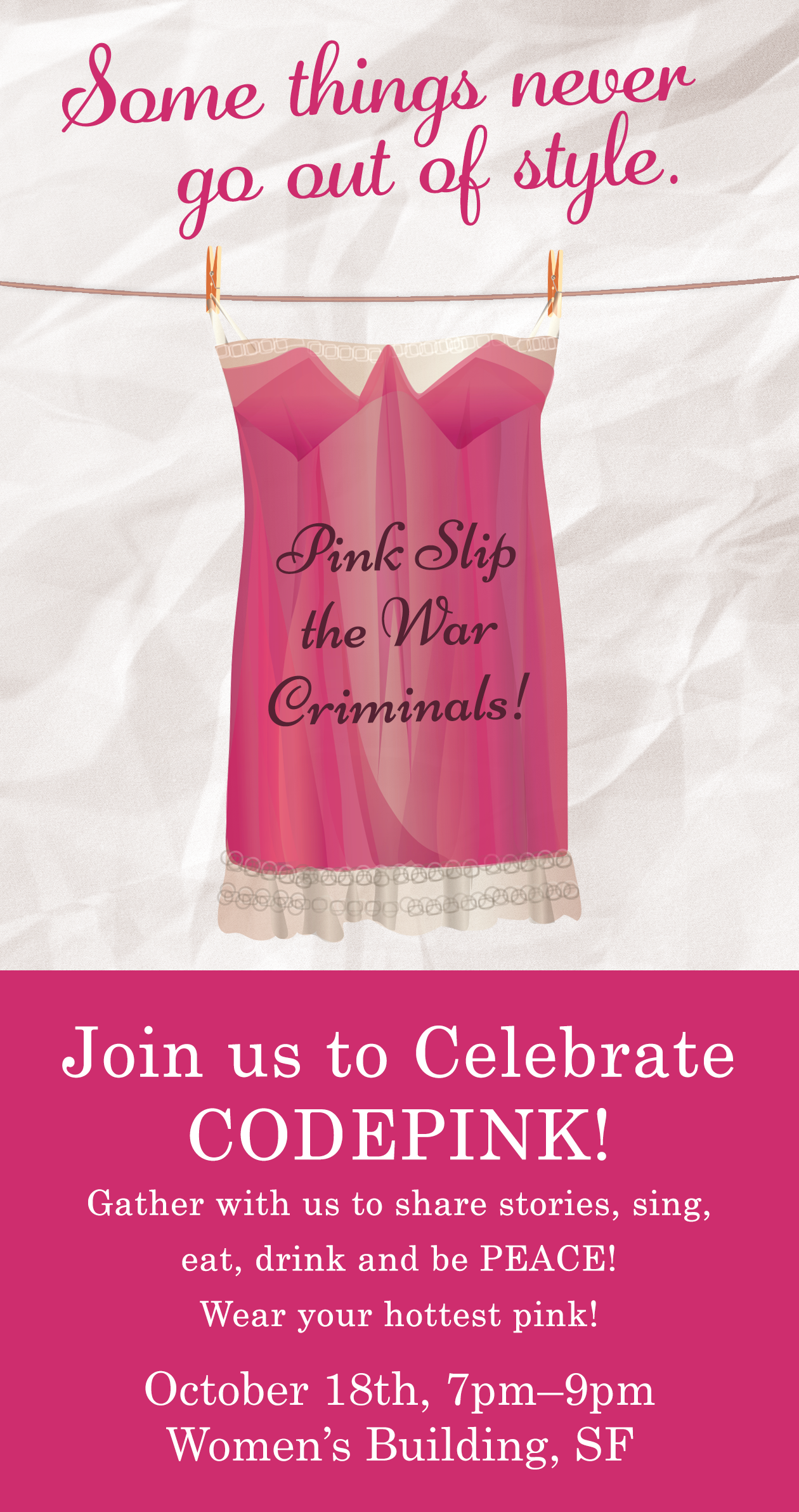 Celebrate CODEPINK! @ Women's Building | San Francisco | California | United States