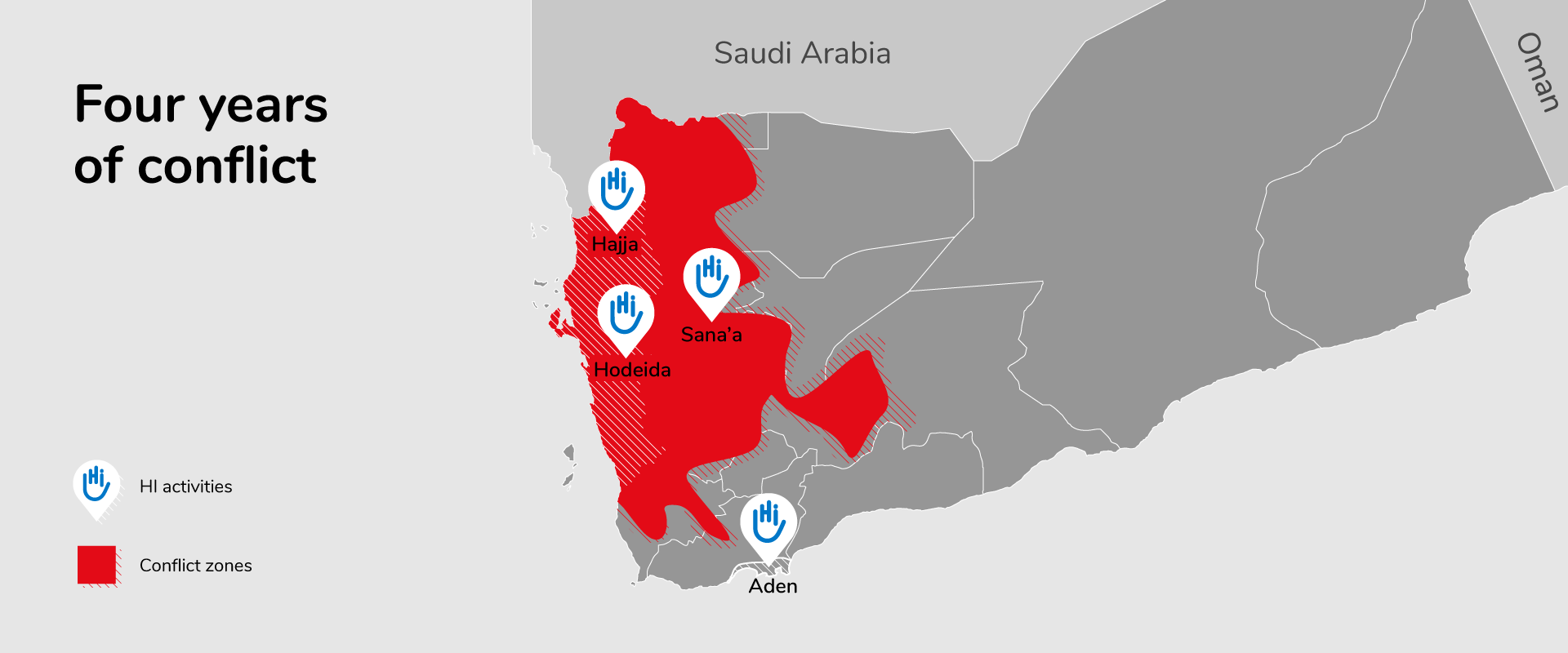 Map of Conflict in Yemen