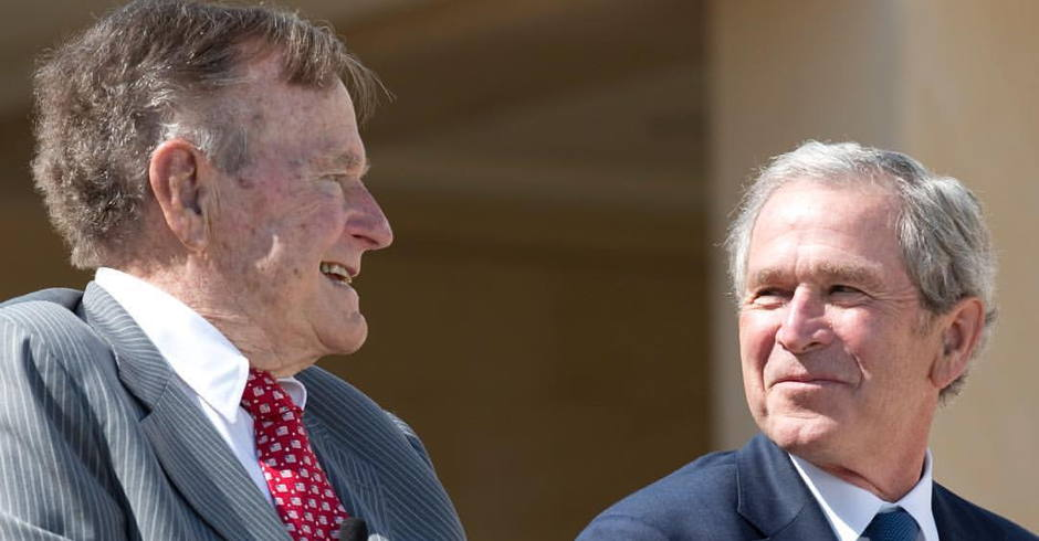 In Rare Statement Both Former Presidents Bush Denounce Racial Bigotry, an Apparent Criticism of Trump