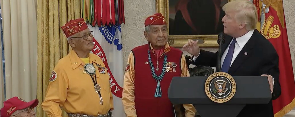 Trump Just Called Elizabeth Warren 'Pocahontas' – at an Event at Event Honoring Native Americans