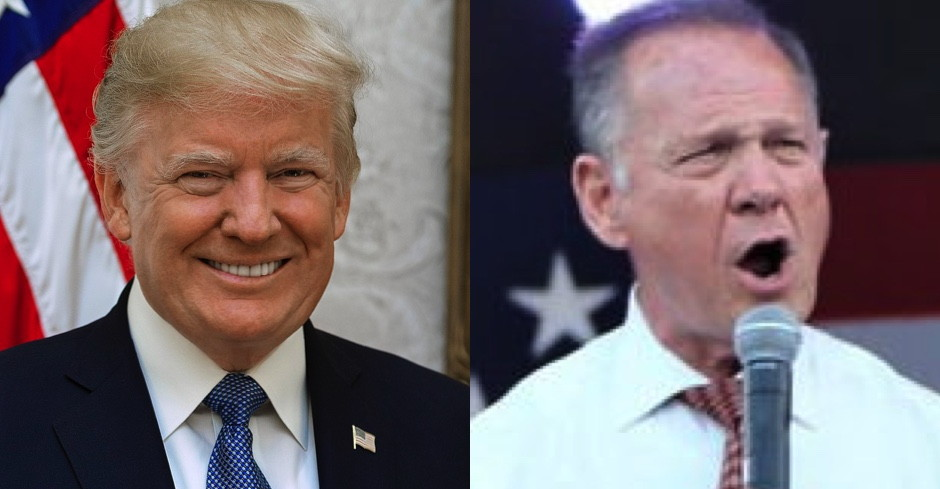 'I Said Roy Moore Will Not Be Able to Win' Trump Says After Backing Roy Moore 100%