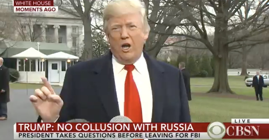 Trump Tells More Lies: 'Even the Democrats Admit No Collusion' but 'Hillary Clinton Investigation, It Was Rigged'