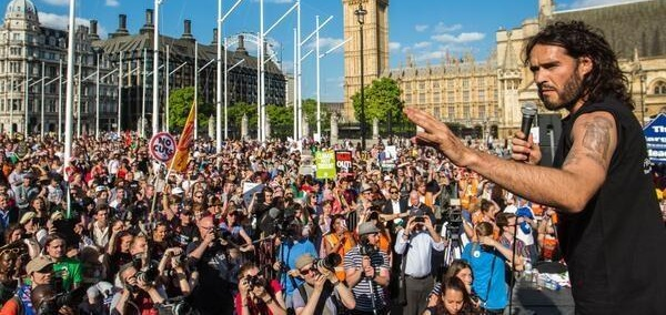 Russell Brand at Parliament Square People's Assembly demo