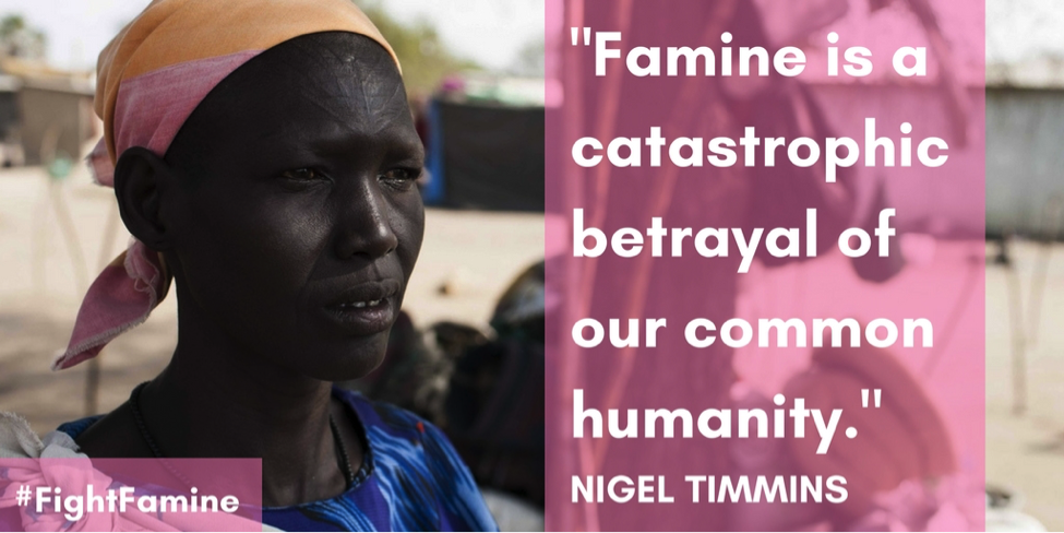 Famine is a betrayal of our humanity.