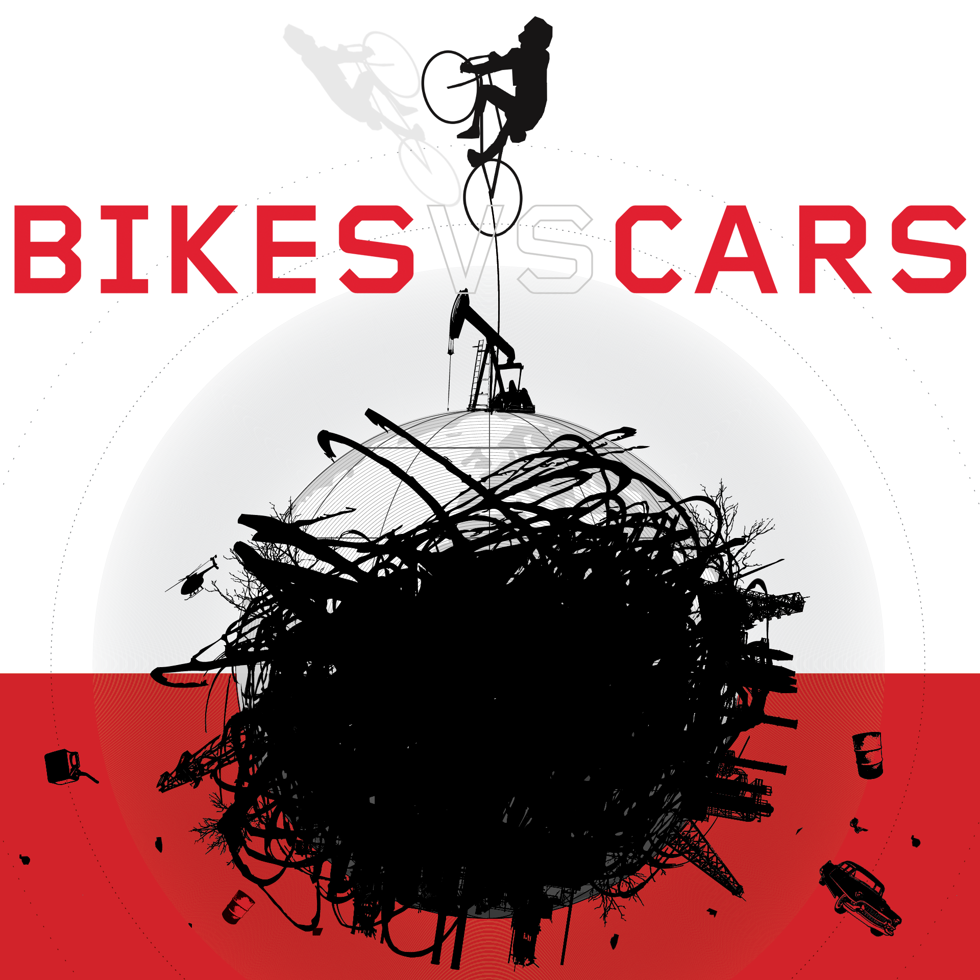 compare and contrast cars and bicycles
