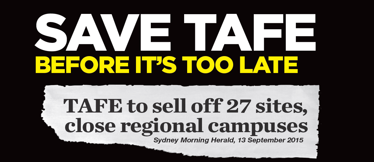 Save TAFE before it's too late!