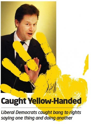 caught yellow handed