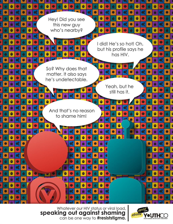4 u u Resist Stigma Serophobia Campaign Poster JPEG