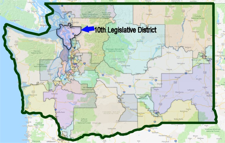 10th LD in WA map
