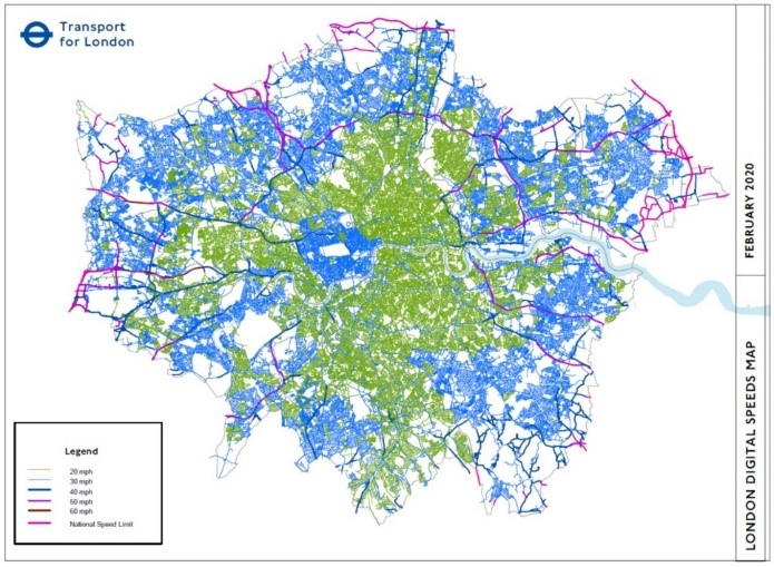 London 20mph Map