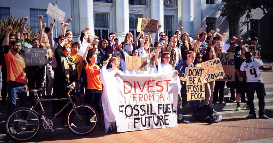 Fossil Free UC students
