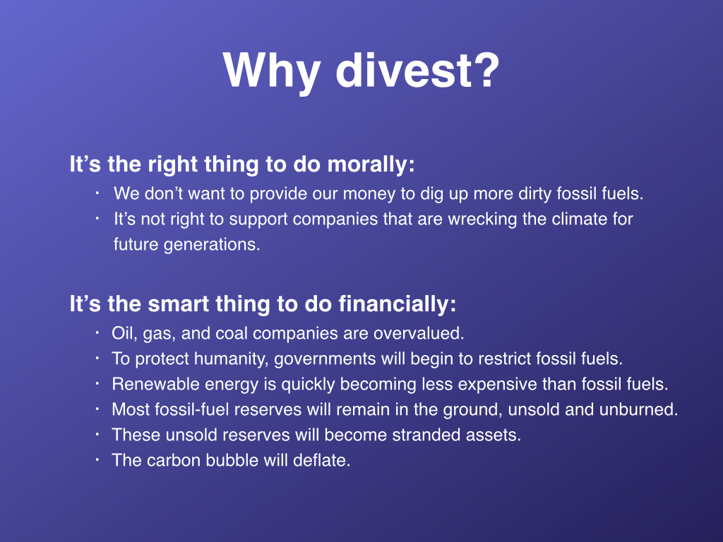 Reasons to divest