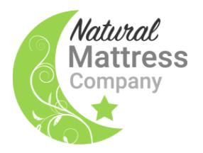 Natural Mattress green moon logo