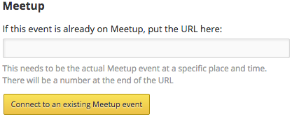 Meetup event sync