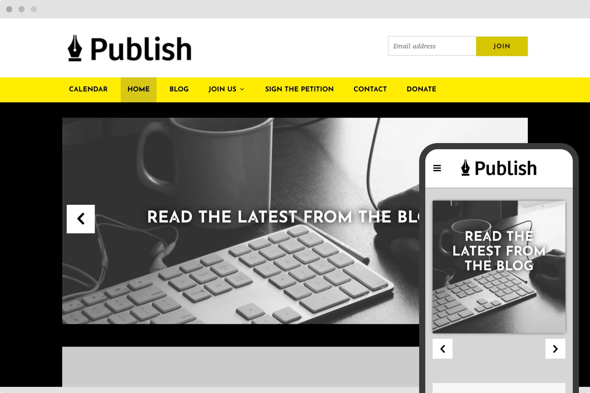 Publish theme