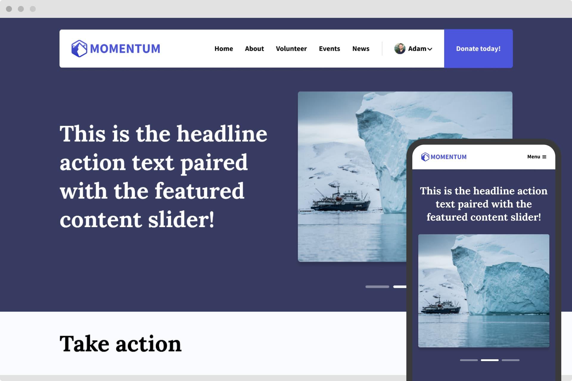 momentum theme